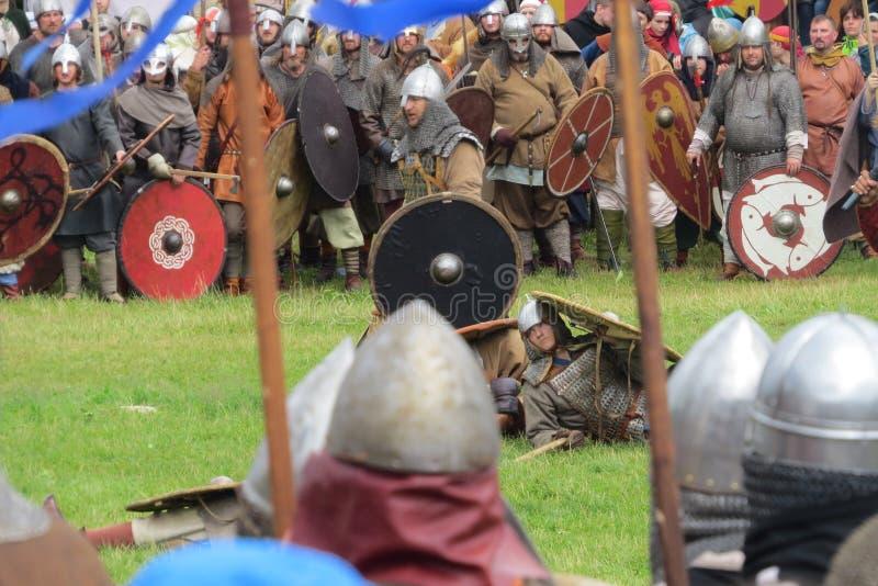 Strid av tusen svärd royaltyfria foton