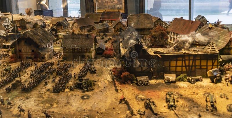 Striden av Leipzig eller strid av nationerna, 1813 royaltyfri foto