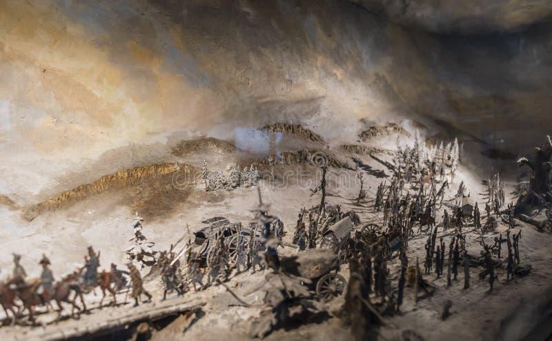 Striden av Leipzig eller strid av nationerna, 1813 royaltyfri bild