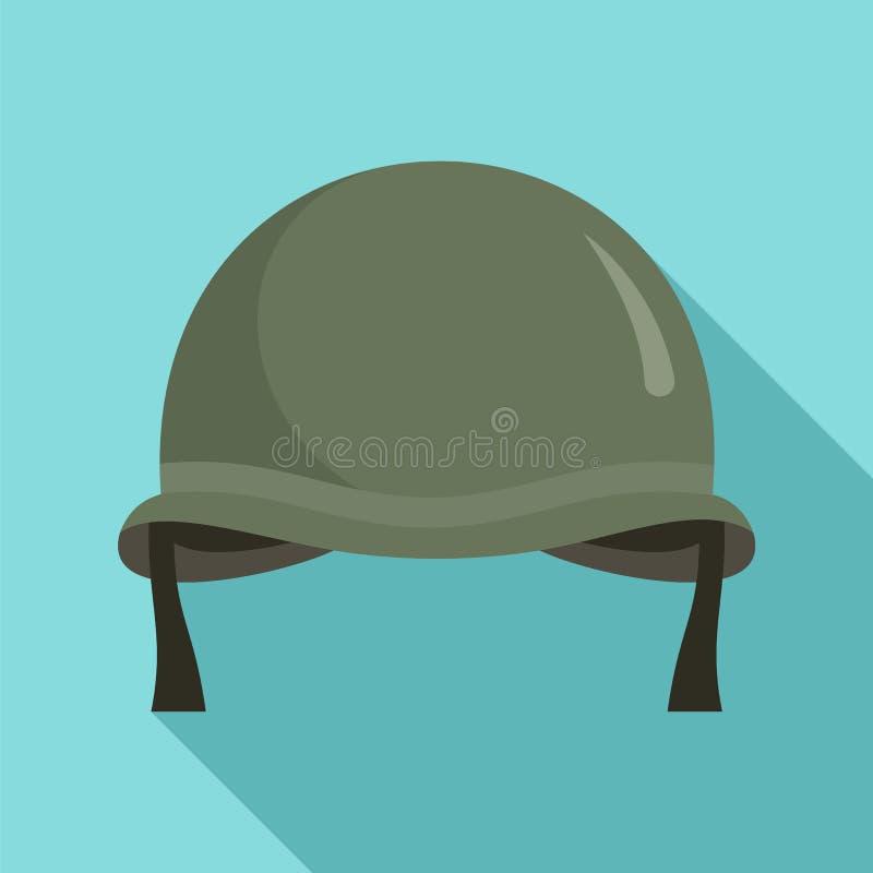 Stridhjälmsymbol, plan stil royaltyfri illustrationer