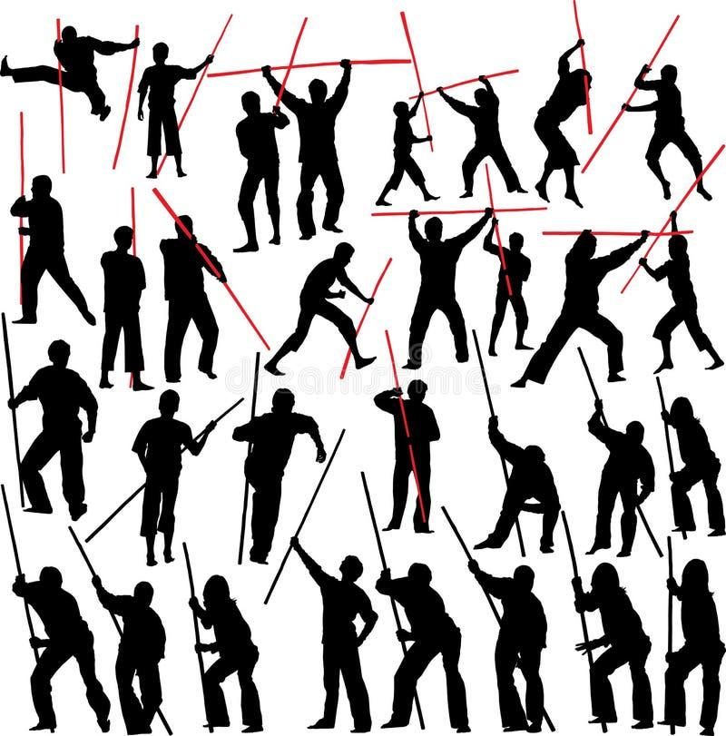 stridighetsticks stock illustrationer