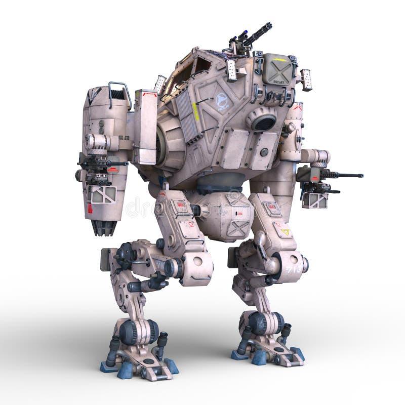 Stridrobot stock illustrationer