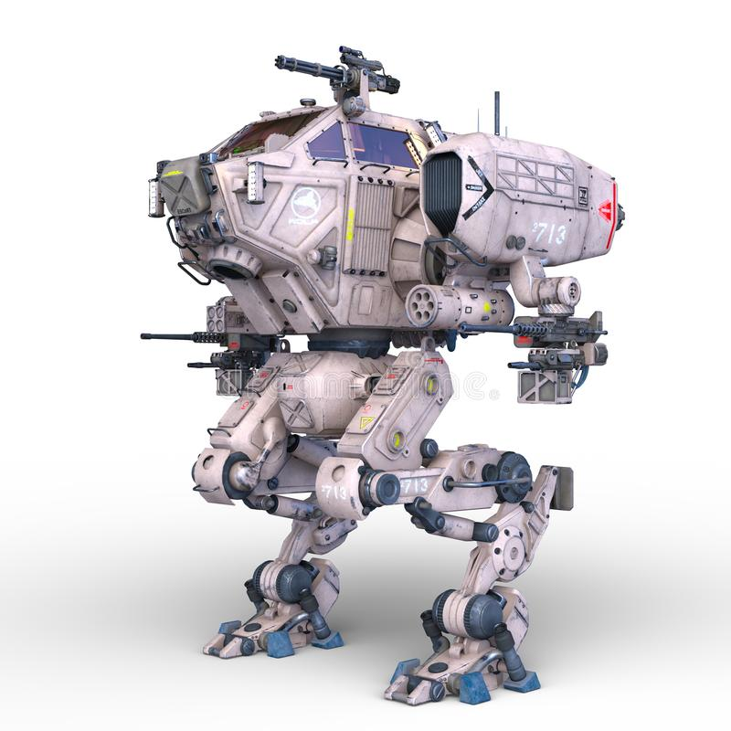 Stridrobot royaltyfri illustrationer