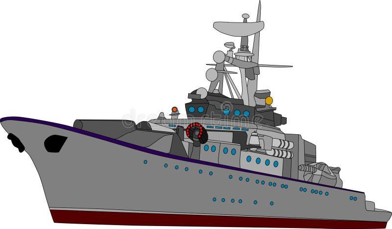 stridship vektor illustrationer