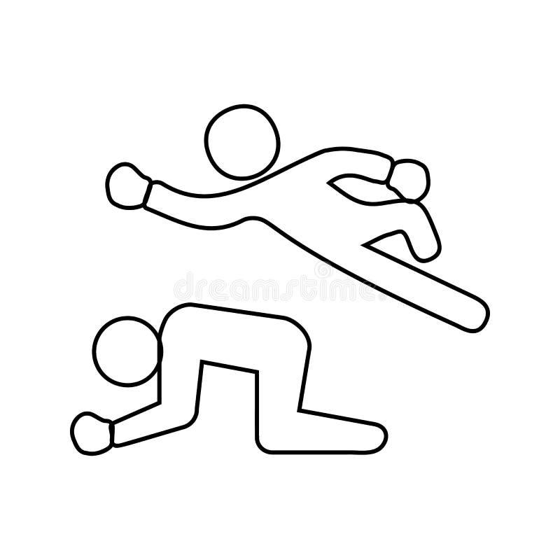 strijd in het worstelen pictogram Element van Strijd voor mobiel concept en webtoepassingenpictogram Dun lijnpictogram voor websi vector illustratie