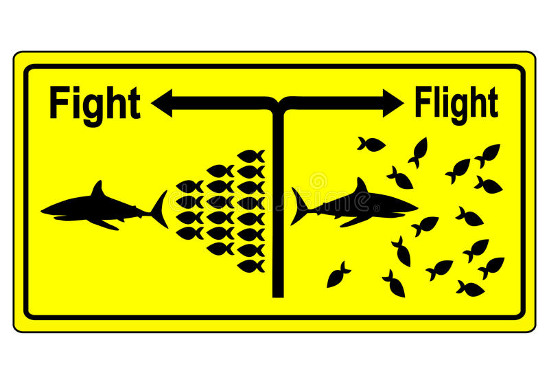 Strijd of Vluchtconcept vector illustratie