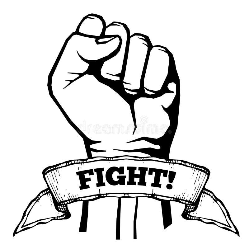 Strijd voor uw rechten, solidariteit, revolutie vectoraffiche stock illustratie