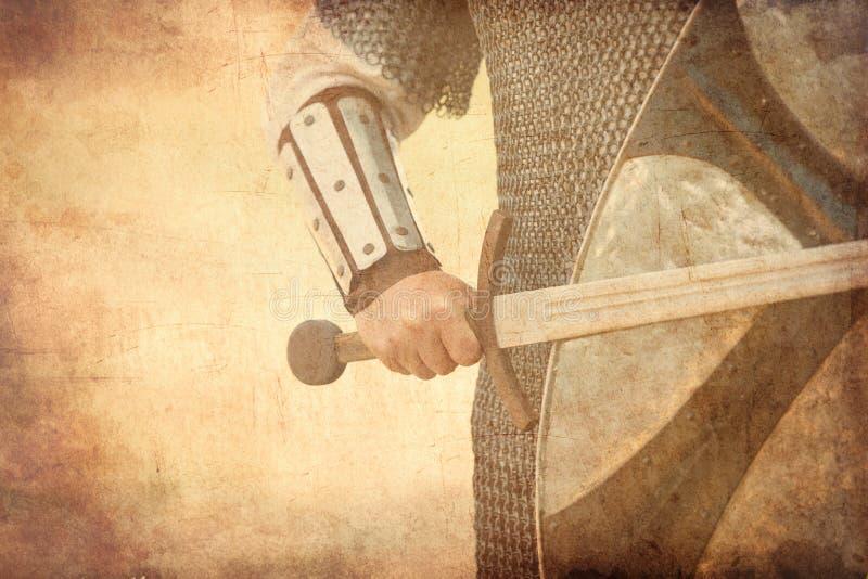 Strijder met zwaard royalty-vrije stock afbeelding