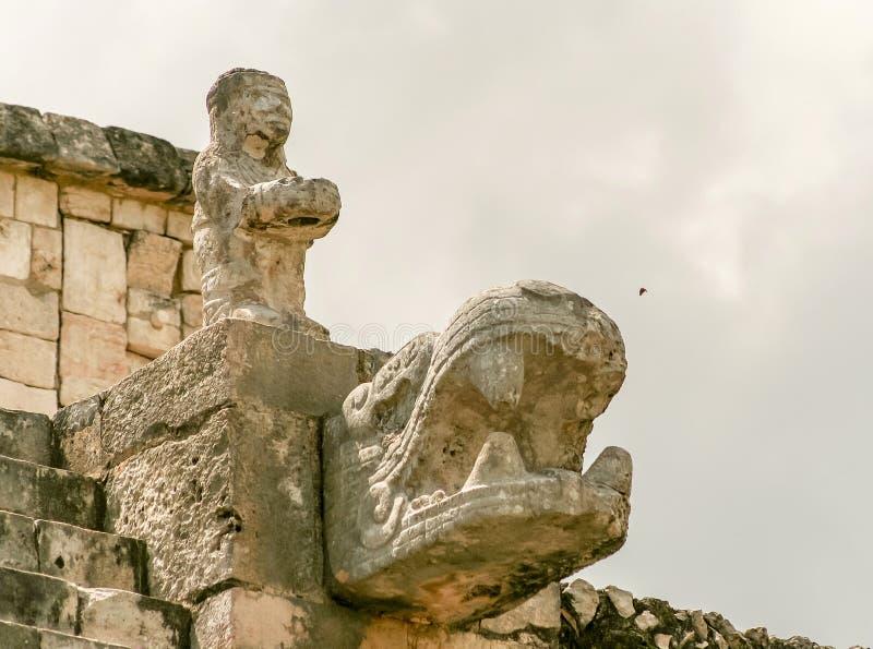 Strijderstempel op de plaats van Chichen Itza in Mexico royalty-vrije stock foto