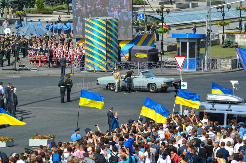Strijdkrachten van de Oekraïne in Kyiv royalty-vrije stock foto