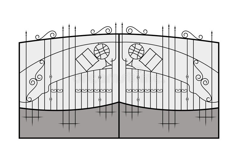 Strijk poort Het detail van de architectuur vector illustratie