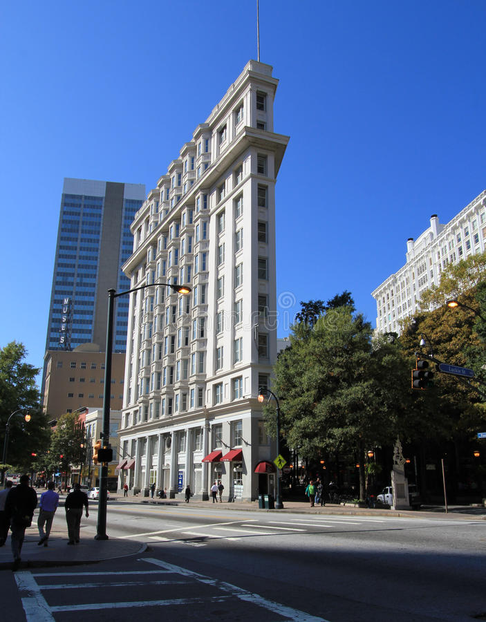 Strijkijzer dat Atlanta bouwt royalty-vrije stock foto