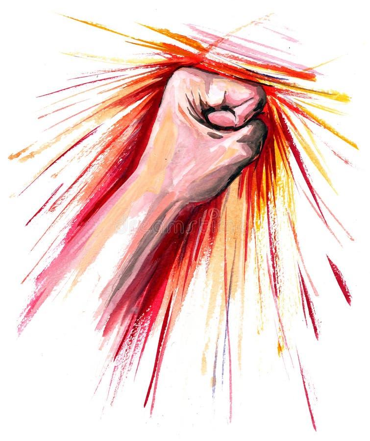 Strike royalty free illustration