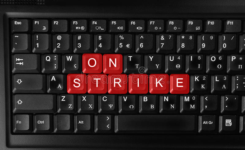 Download On strike stock photo. Image of black, laptop, computer - 24379988