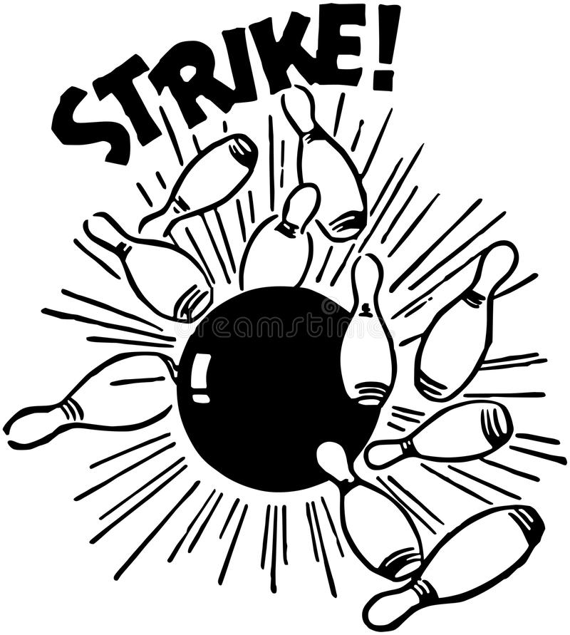 Strike! stock illustration