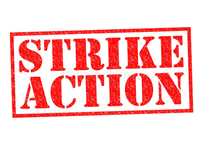 STRIKE ACTION vector illustration