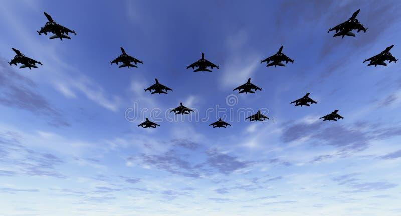 Download Strike Force at Dawn stock illustration. Image of interceptor - 1878499