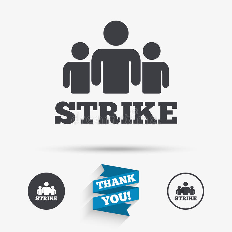 Strike sign icon. Group of people symbol. vector illustration