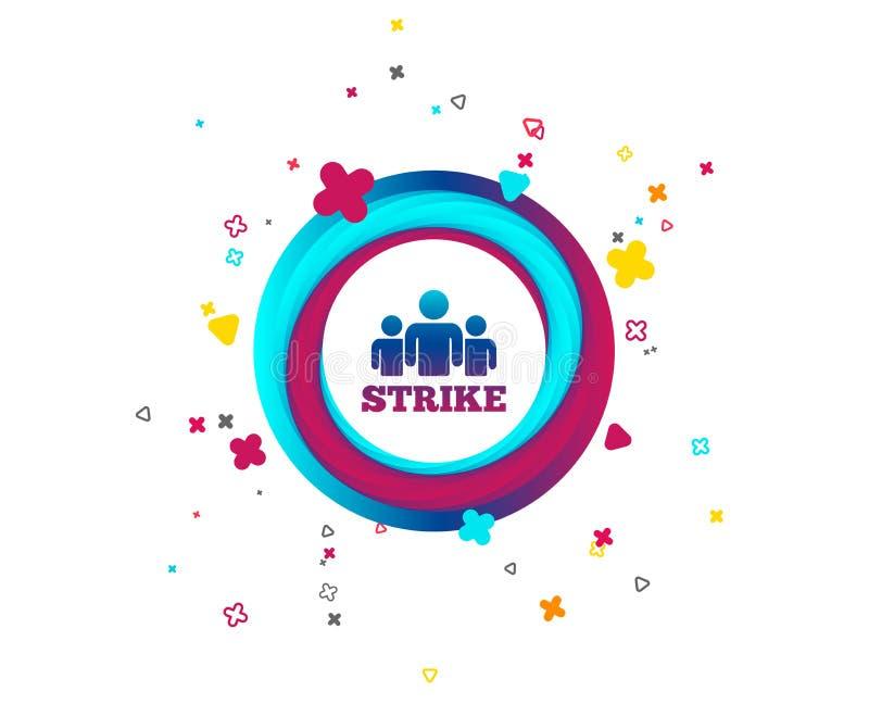 Strike sign icon. Group of people symbol. stock illustration