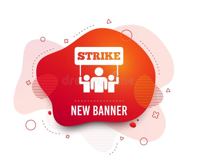 Strike sign icon. Group of people symbol. Vector royalty free illustration