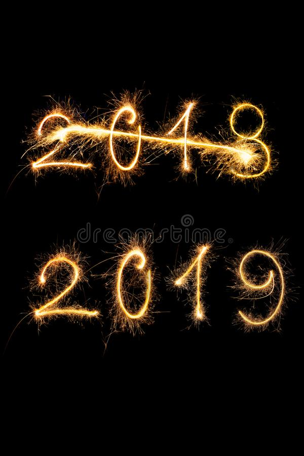 Happy new year 2019 royalty free stock photos