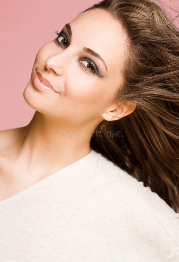 Striking brunette beauty. stock photography