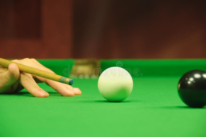 Striking the cue ball royalty free stock images