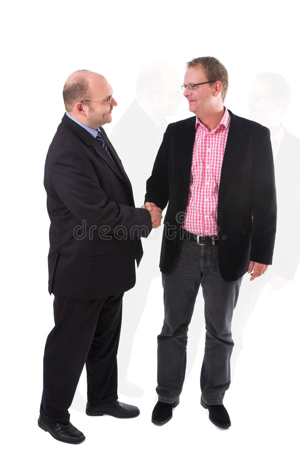 Striking a deal stock photo