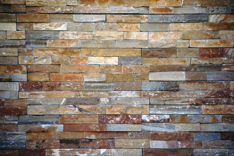 Striking Wall. A striking wall with different colored and patterned brick royalty free stock images