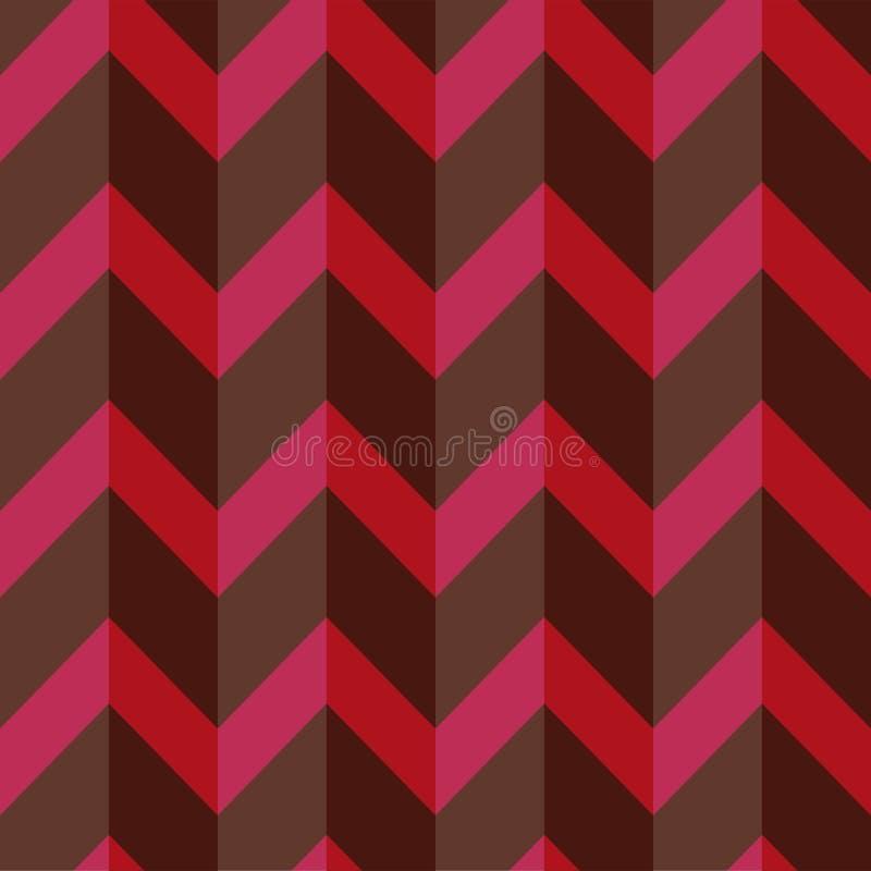 Strikt geometrisch patroon in gedempte donkere kleuren Volumetrische naadloze achtergrond royalty-vrije illustratie