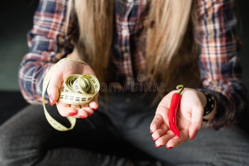Strikt vegetarian bantar sund mat balanserad näringpeppar fotografering för bildbyråer