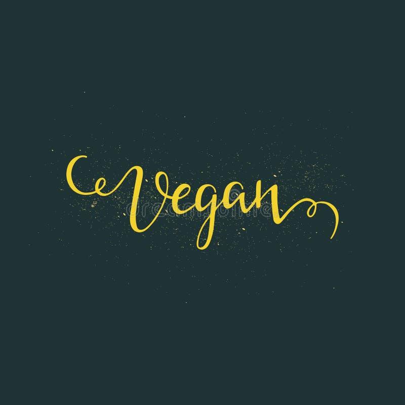 Strikt vegetarianbokstäver stock illustrationer