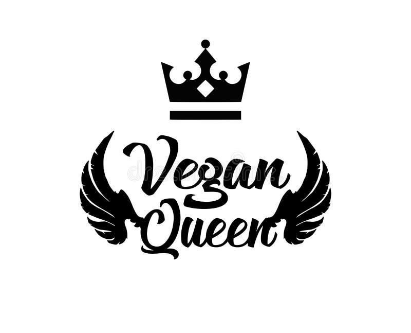 Strikt vegetariandrottning med vingar royaltyfri illustrationer
