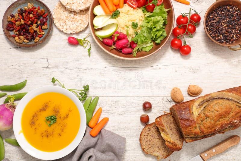 Strikt vegetarianmat, sund livsstil arkivfoton