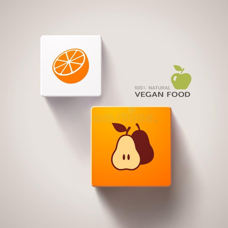 Strikt vegetarianmatbegrepp. Vektor Eps10 royaltyfri illustrationer