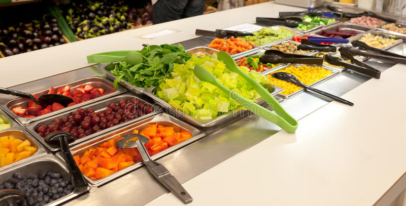 Strikt vegetarianmatbuffé royaltyfria foton
