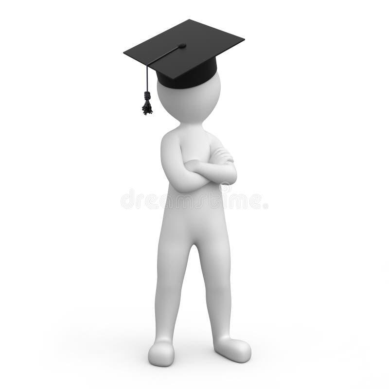 Strikte gediplomeerde vector illustratie