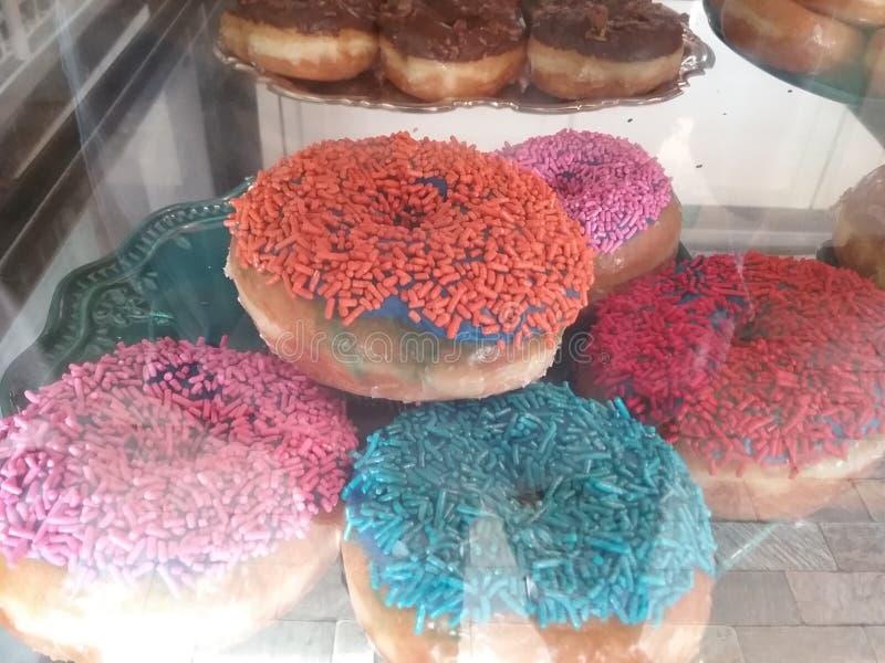 strilade donuts royaltyfri foto