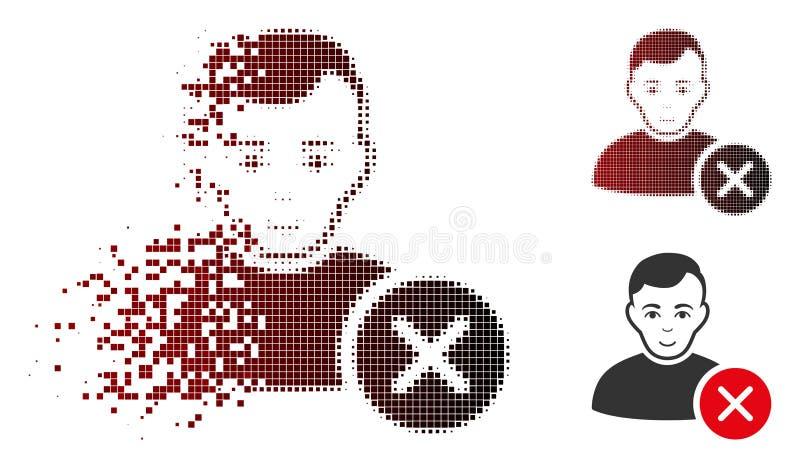 Strimlad för användareborttagnings för PIXEL rastrerad symbol med framsidan royaltyfri illustrationer