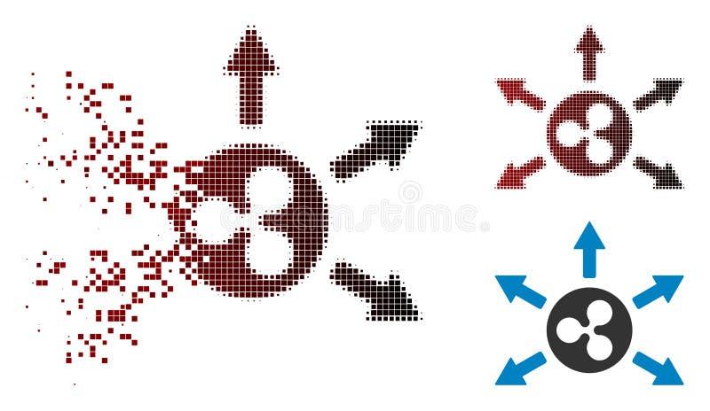 Strimlad för krusningsCashout för PIXEL rastrerad symbol pilar royaltyfri illustrationer