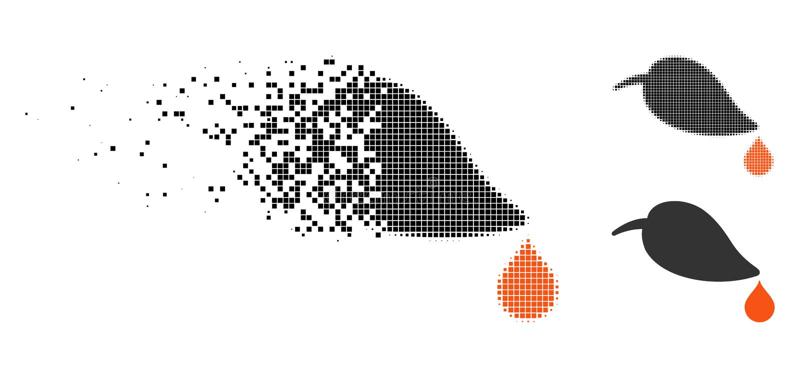 Strimlad Pixelated rastrerad ekologisymbol stock illustrationer