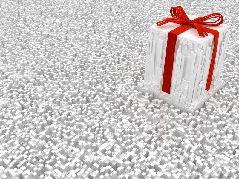 Strimlat overkligt för gåva stock illustrationer