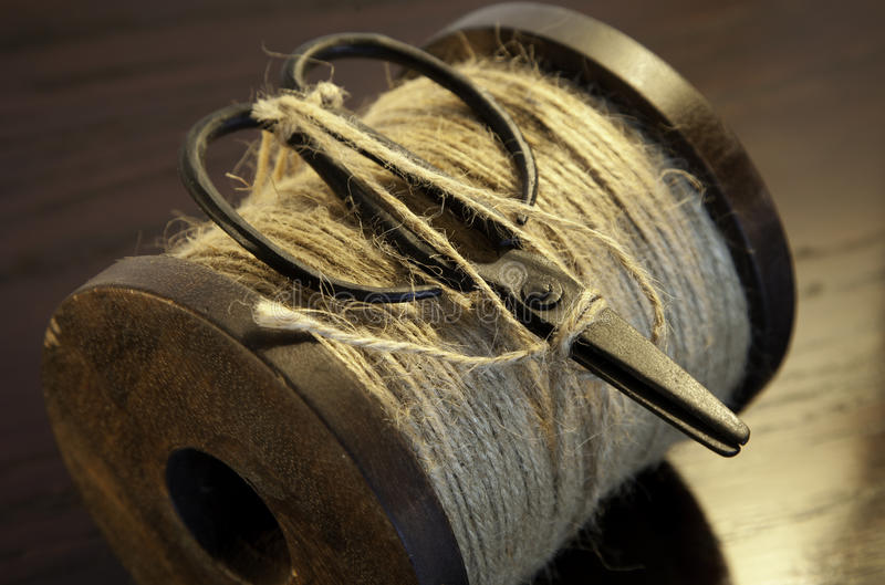 Download String Bobbin With Scissors Stock Image - Image: 24020559