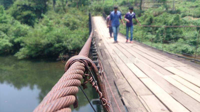 String Bridge. Located in Kerala, India stock photos
