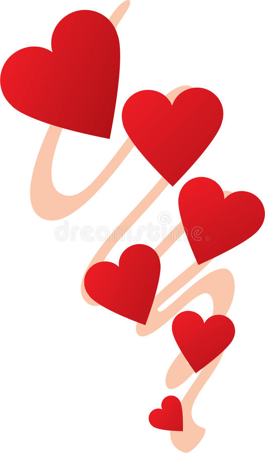 String Of Hearts Design Stock Image