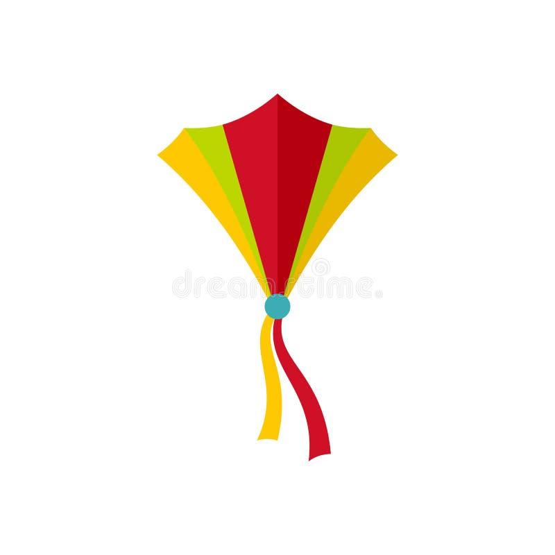 String kite icon, flat style. String kite icon. Flat illustration of string kite icon for web isolated on white vector illustration