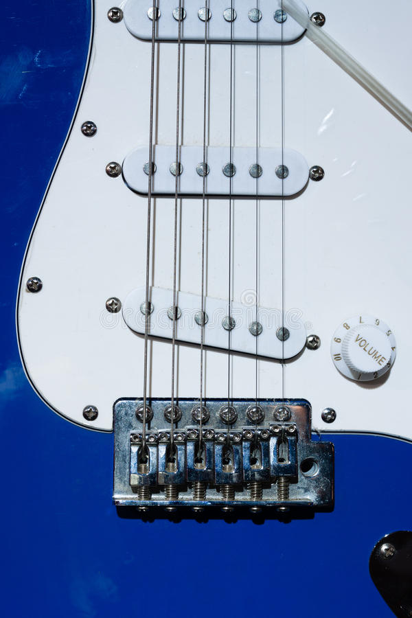 String And Knob Of  Electric Guitar Stock Photography