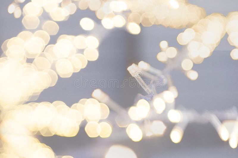 String light on white fabric wedding decorate royalty free stock photography