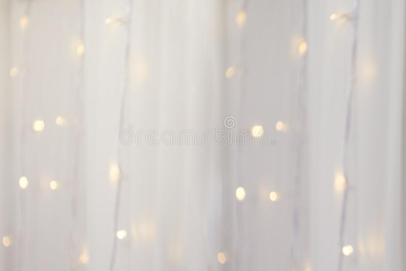 String light on white fabric wedding decorate wallpaper. String light on white fabric wedding decorate stock illustration