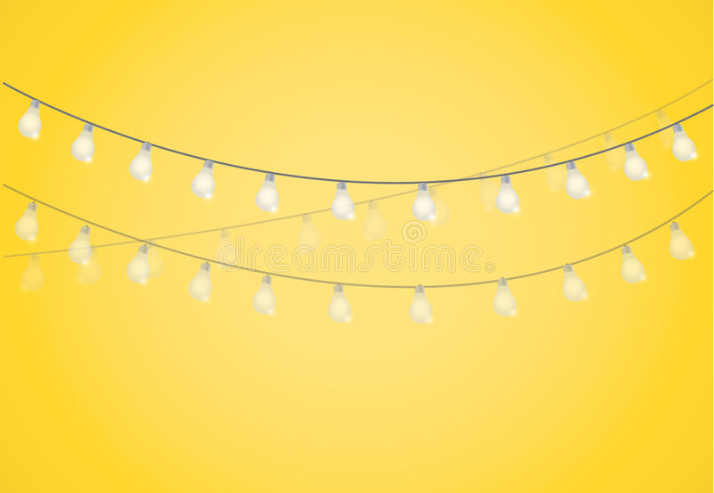 String Of Lights. Hanging Light Bulbs Stock Illustration - Image: 57545115